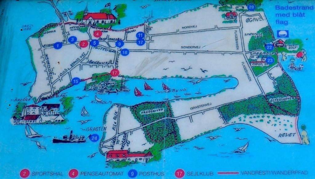 Thurø Karte